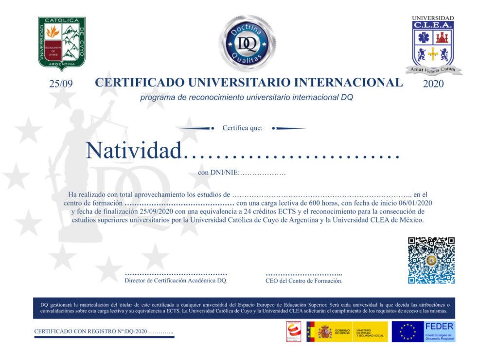 Certificado Intenacional ECTS-Aulaformacion